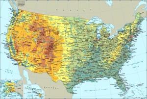 Карта США